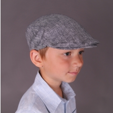 Gray Ivy Cap, 100% Linen