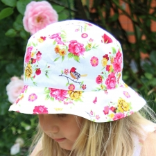 Hat With Birds And Flowers