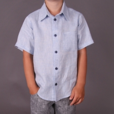 Light Blue Shirt, 100% Linen