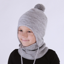 Light Gray Hat, 100% Merino Wool