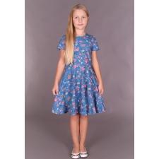 Kleit lindude ja lilledega (sinisel)