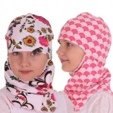 Tuukrimüts lilleline / roosa mustriga, kahtepidi kantav!