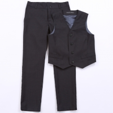 Trousers And Vest, 100% Virgin Wool