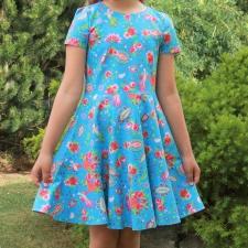 Sinine kleit väikese varrukaga