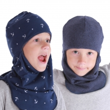 Balaclava, one side 100% merino wool / other side cotton! -6 to +6 °C