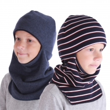 Balaclava, one side 100% merino wool / other side cotton.  -3 °C and less