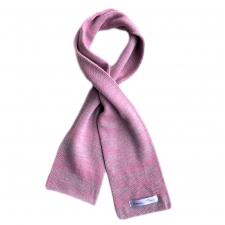 Gray-Pink Scarf, 100% Merino Wool