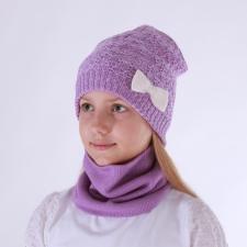 Violetne kaelussall, 100% meriinovill!