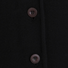 Black Cardigan, 100% Merino Wool
