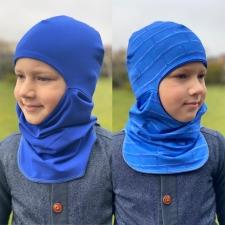 Tuukrimüts sinised ristkülikud / sinine, kahtepidi kantav! +5 kuni +15 °C