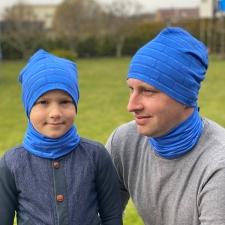 Sinine müts ristkülikutega