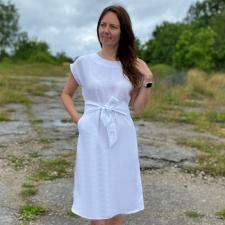 White Linen Dress, 100% LINEN