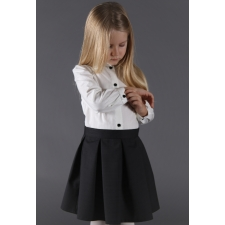 White Blouse With Black Buttons