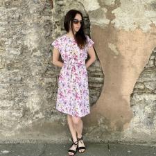 Floral Dress With A Belt