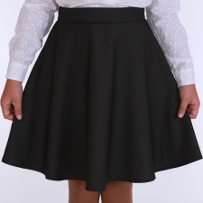 Skirt With Silk And Virgin Wool