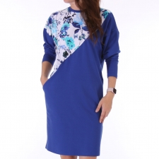 Royal Blue pusakleit lilledega