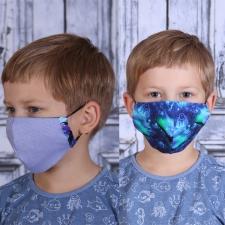 Face Mask Dragons / Other Side Blue (Adjustable Size!)