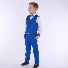 Royal Blue Trousers And Vest