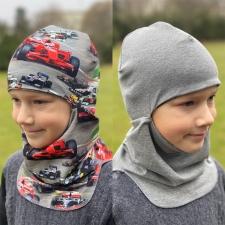 Tuukrimüts, vormelid / hall, kahtepidi kantav! +5 kuni +15 °C