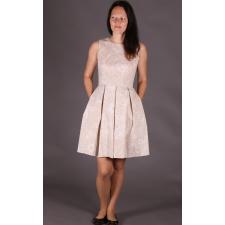 Beež kleit valgete lilledega