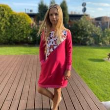 Fuchsia Sweatshirt Dress