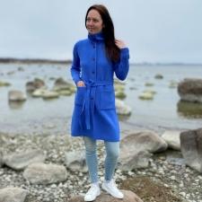 Blue Cardigan, 100% Merino Wool