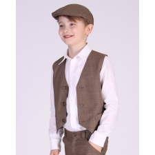 Brown Vest, 100% Virgin Wool